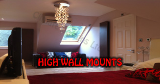 Heating the home with wall mounts